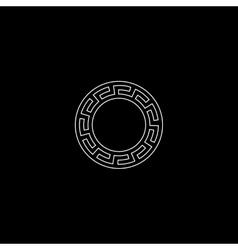 Stylized circular frame vector image