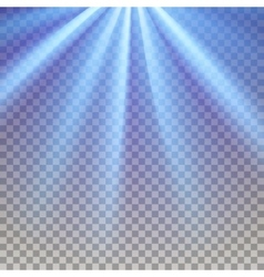 Blue flare rays vector
