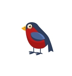 Bullfinch simplified cute vector