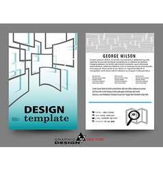 Abstract Brochure Flyer vector image vector image