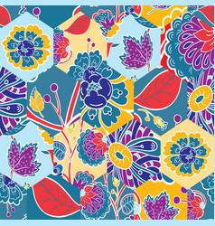 abstract seamless colorful pattern with hand drawn vector image vector image