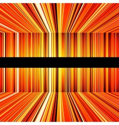 Abstract yellow and orange warped stripes vector image