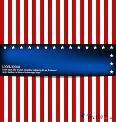 American Flag card vector image vector image