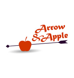Apple and arrow on a white background vector