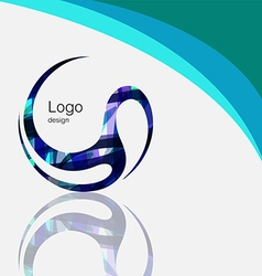 Art abstract symbol curve logo design vector