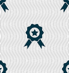 Award medal of honor icon sign seamless pattern vector
