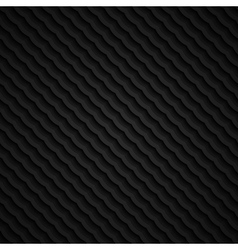 black 3d seamless wavy pattern vector image