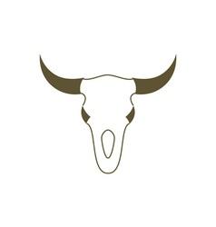 Bull-Skull-380x400 vector image vector image