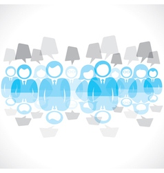 businessmen team with message bubble vector image