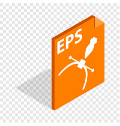 Eps file format isometric icon vector