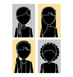 female avatars design vector image