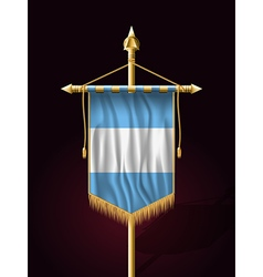 Flag of guatemala festive vertical banner vector