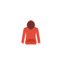 Flat icon hoodie element of vector