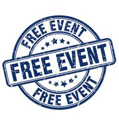 Free event blue grunge round vintage rubber stamp vector