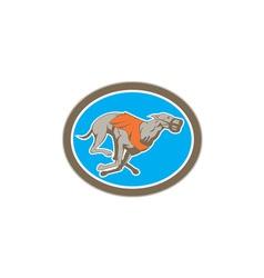 Greyhound dog racing circle retro vector