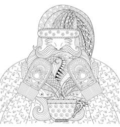 Happy Santa with vector image vector image