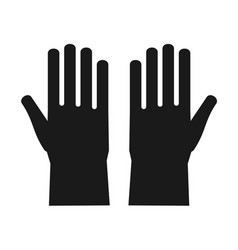 icon of protective rubber gloves vector image