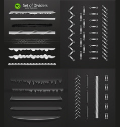 Mega collection of metal and glass dividers for vector