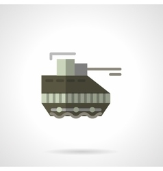 Military robots flat color icon tank vector