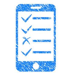 Mobile todo list grunge icon vector