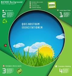 Modern ecology design layout vector