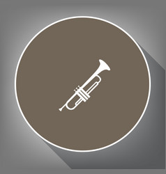 musical instrument trumpet sign white vector image