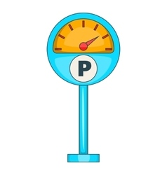 Parking meter icon cartoon style vector