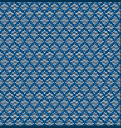 seamless knitted geometric background vector image vector image