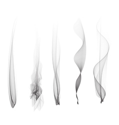 set of smoke effect smooth flame vector image
