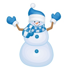snowman blue costume vector image vector image