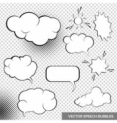 Speesh Bubbles Design Elements vector image vector image