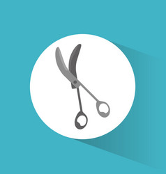 surgery scissors tool medical vector image