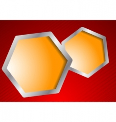 vector template with hexagons vector image