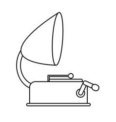 vintage gramophone icon image vector image vector image