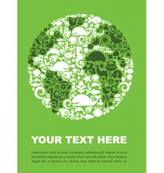 world animal poster vector image vector image