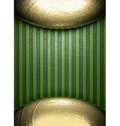Gold on green background vector