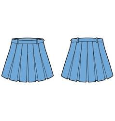 Skirt vector image