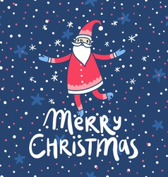Merry christmas santa claus greetings vector