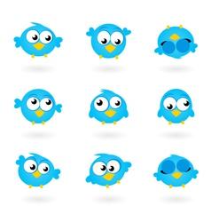 Twitter birds vector