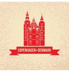 Rosenborg Castle The symbol of Copenhagen vector image