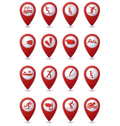 Set 16 sport red pointer vector
