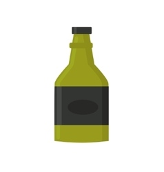 Retro whiskey bar drink bottle vector