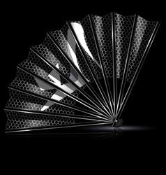 white lace fan shoe vector image
