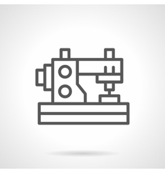 Domestic sewing machine black line icon vector