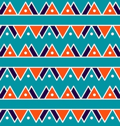 Seamless vintage abstract pattern with triangles vector