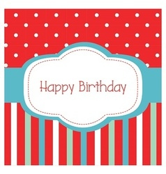 Happy birthday frame card vector