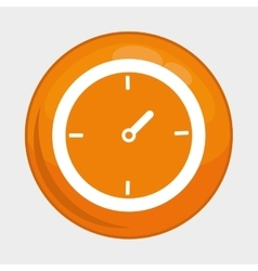 Clock button icon social media design vector