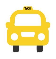 a simple icon of a generic yellow taxi vector image