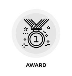 Award Line icon vector image vector image