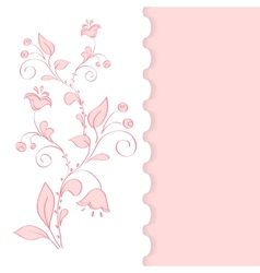 background with cherry flowers vector image vector image